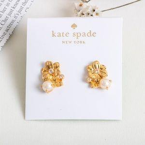 Kate Spade Wild Garden Pearl and Flower Earrings